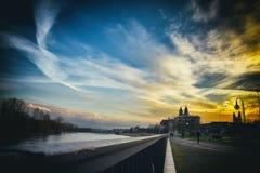 Maagdenburg /Elbe Stock Afbeelding