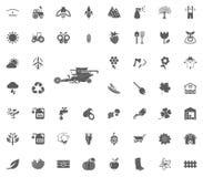 Maaidorserpictogram Het tuinieren en geplaatste hulpmiddelen vectorpictogrammen Stock Afbeelding