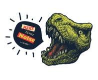 Maak één of andere lawaaislogan grafisch royalty-vrije illustratie