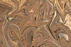Maak Abstract Patroon met Bruin, Wit en Grey Graphics Color Art Form vloeibaar Digitale Achtergrond met het Vloeibaar maken Stroo royalty-vrije illustratie