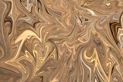 Maak Abstract Patroon met Bruin, Wit en Grey Graphics Color Art Form vloeibaar Digitale Achtergrond met het Vloeibaar maken Stroo stock illustratie