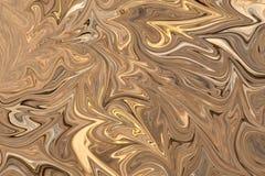 Maak Abstract Patroon met Bruin, Wit en Grey Graphics Color Art Form vloeibaar Digitale Achtergrond met het Vloeibaar maken Stroo vector illustratie