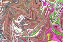 Maak Abstract Patroon met Groen Roze vloeibaar, Bruin, Grey And Yellow Graphics Color Art Form Digitale Achtergrond met het Vloei vector illustratie