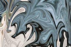 Maak Abstract Patroon met Groen, Zwart, en Grey Graphics Color Art Form vloeibaar Digitale Achtergrond met het Vloeibaar maken St royalty-vrije illustratie