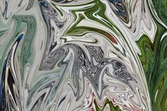 Maak Abstract Patroon met Groen, Zwart, Grey And Pink Graphics Color Art Form vloeibaar Digitale Achtergrond met het Vloeibaar ma vector illustratie