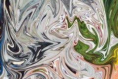 Maak Abstract Patroon met Groen, Zwart, Grey And Pink Graphics Color Art Form vloeibaar Digitale Achtergrond met het Vloeibaar ma stock illustratie