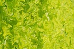 Maak Abstract Patroon met Kalk, Chartreuse, Groene en Gele Grafiekkleur Art Form vloeibaar Digitale Achtergrond met het Vloeibaar vector illustratie