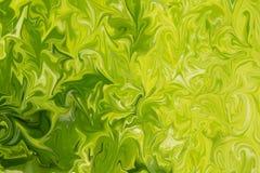 Maak Abstract Patroon met Kalk, Chartreuse, Groene en Gele Grafiekkleur Art Form vloeibaar Digitale Achtergrond met het Vloeibaar stock illustratie