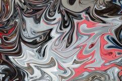 Maak Abstract Patroon met Zwarte, Coral And Grey Graphics Color Art Form vloeibaar Digitale Achtergrond met het Vloeibaar maken S stock illustratie