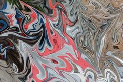 Maak Abstract Patroon met Zwarte, Coral And Grey Graphics Color Art Form vloeibaar Digitale Achtergrond met het Vloeibaar maken S royalty-vrije illustratie