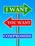 Maak compromis Royalty-vrije Stock Afbeelding