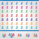 Maak de gebaseerde gebruikers ` van vormen` Mensen schoon Royalty-vrije Stock Fotografie