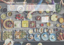 Maak een het Programmaorganisatie van de Benoemingskalender Conc Planning Royalty-vrije Stock Foto