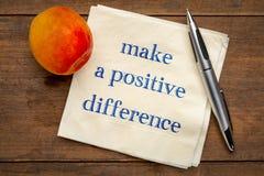 Maak een positief verschil stock foto's