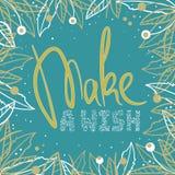 ` Maak een wens ` stock illustratie