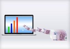Maak geld online Stock Afbeeldingen