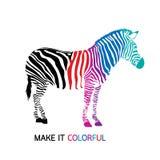 Maak gestreepte kleurrijk Stock Foto