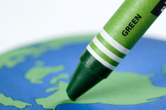 Maak het groen Stock Foto