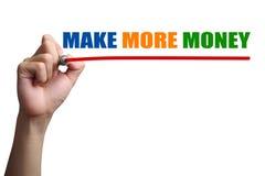 Maak Meer Geld royalty-vrije stock afbeelding