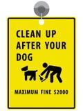 Maak na uw hondteken schoon Stock Afbeelding