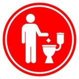 Maak niet van in toilet een rommel Royalty-vrije Stock Foto's