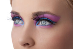 Maak omhoog in de close-up van kleurenogen Stock Fotografie