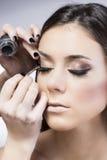Maak omhoog het gezicht van de schoonheidsvrouw Stock Foto's