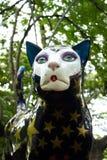 Maak omhoog Kat in Kattenpark in Cali, Colombia stock afbeelding