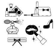 Maak omhoog pictogramreeks vector illustratie