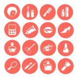 Maak omhoog pictogramreeks stock illustratie