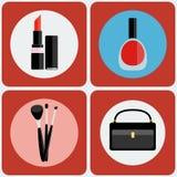 Maak omhoog tot hulpmiddelen kleurrijke pictogramreeks Royalty-vrije Stock Fotografie