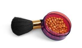 Maak omhoog tot schoonheidsmiddelen natuurlijk haar dierlijk de lippenstiftmasker van het borstelpoeder stock afbeeldingen