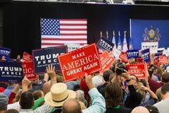 Maak opnieuw om Amerikaanse Groot een campagne te voeren Tekens Stock Fotografie