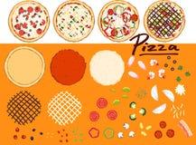 Maak pizza door uw ontwerp - inzameling 1 Stock Fotografie