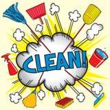 Maak schoon! Royalty-vrije Stock Foto's
