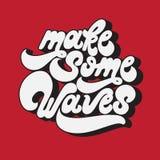 Maak sommige golven Het vector met de hand geschreven van letters voorzien royalty-vrije illustratie
