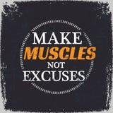 Maak Spieren niet Verontschuldigingen Royalty-vrije Stock Afbeeldingen
