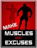 Maak Spieren niet Verontschuldigingen Stock Fotografie