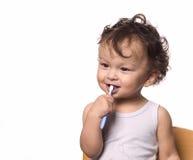 Maak tanden schoon. Royalty-vrije Stock Afbeeldingen