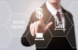 Maak tot Geld het Online Concept van van het Bedrijfs winstsucces Financiëninternet Royalty-vrije Stock Afbeeldingen