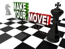 Maak uw beweging Stock Foto