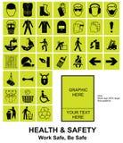 Maak uw eigen Gezondheid en Veiligheidstekens Stock Foto's