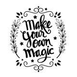 Maak uw eigen magische citaten royalty-vrije illustratie