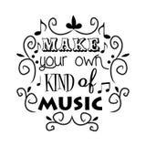 Maak uw eigen soort muziek vector illustratie