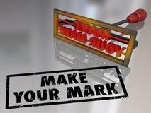 Maak Uw Mark Branding Iron Lasting Impression Royalty-vrije Stock Fotografie