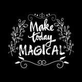 Maak vandaag magische citaten stock illustratie