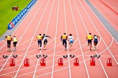Maakt atletenras in het stadion van Londen onbruikbaar 2012 Stock Afbeelding