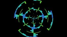 Maakt de equaliser Audiomuziek Niveaus Grafische Computer Geproduceerde Technologie gelijk royalty-vrije illustratie
