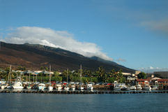 Maalaea Harbor. This beautiful harbor is found on the island of Maui Hawaii royalty free stock photography
