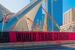 Maalde Nul met het Wereldhandelscentrum  Royalty-vrije Stock Afbeelding